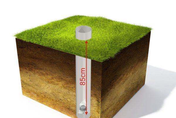 detektor ecotrak umieszczony w glebie